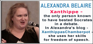 Alexandra Belaire - Xantippas Chamberpot - freedom of speech
