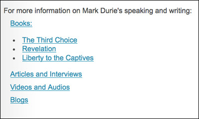 Mark Durie - videos, articles, interviews, blog
